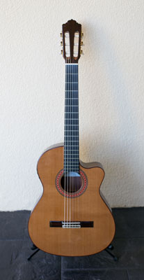Almansa 435 Conservatory Cutaway gutar used by Do Re Mi Studios teachers in their Sutherland Shire guitar classes