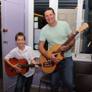 Students David and Dave at the Do Re Mi Studios annual concert